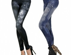 Women Butterfly Printing Imitation Jeans Leggings Pencil Pants Cndirect bester Fashion-Online-Shop China