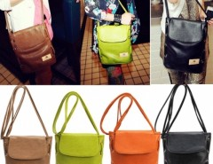 Women Candy Color Handbag Leather Cross Body Shoulder Bag Bucket Bag Cndirect bester Fashion-Online-Shop China