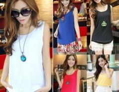 Women Chiffon Sleeveless Shirt Vest Tank Tops Cndirect bester Fashion-Online-Shop China
