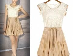 Women Court Style Retro Lace Chiffon Sleeveless Vest Dress Cndirect bester Fashion-Online-Shop China