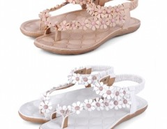 Women Flower Beads Flip-flop Shoes Flat Sandals Cndirect bester Fashion-Online-Shop China
