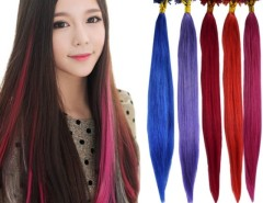 "Women Girl's 100PCS Brazilian Remy hair U-Tip Nail Tip Human Hair Extensions 22"" 5 Colors Cndirect bester Fashion-Online-Shop China"