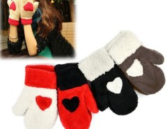 Women Gloves Cute Love Heart Warm Full Mittens Gloves Cndirect bester Fashion-Online-Shop China