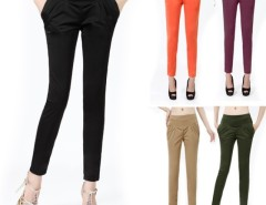 Women Harlen Colorful High-Waisted Pants Trousers Cndirect bester Fashion-Online-Shop China