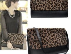 Women Horse Hair Leopard Clutch Shoulder Purse Handbag Cndirect bester Fashion-Online-Shop China