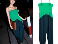 Women Ladies Western Style Spliced Color Jumpsuits Playsuit Romper Long Pants Trousers Cndirect bester Fashion-Online-Shop China