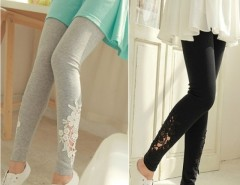 Women Leggings lace Embroidered Skinny Leggings Tights Pencil Pants Printing Cndirect bester Fashion-Online-Shop China
