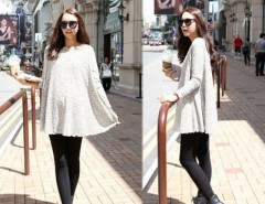Women Round Neck Long Sleeve Pregnant Dress Cndirect bester Fashion-Online-Shop China