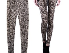 Women's Brown Leopard Print Stretch Skinny Leggings Tights Cndirect bester Fashion-Online-Shop China