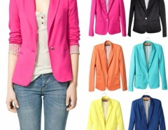 Women's Candy Color Slim Suit Jacket Blazer Cndirect bester Fashion-Online-Shop China