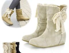 Women's Casual Bobbin Lace Half Boots Flattie Single Boots Shoes Cndirect bester Fashion-Online-Shop China
