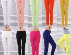 Women's Casual Pencil Pants Slim Long Trousers FINJO Cndirect bester Fashion-Online-Shop China