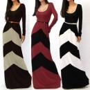 Women's Celeb Style Long Sleeve Slim Maxi Dress With Belt Beach Long Dress Cndirect bester Fashion-Online-Shop China