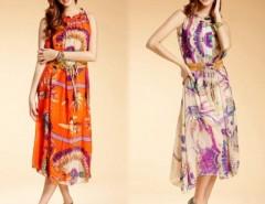 Women's Chiffon Long Dress With Belt Cndirect bester Fashion-Online-Shop China