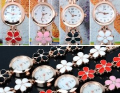 Women's Daisies Flower Rose Gold Bracelet Wrist Watch Quartz Cndirect bester Fashion-Online-Shop China
