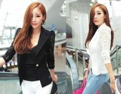 Women's Elegant Coat Lace Splicing Slim Suits Jacket Coat Cndirect bester Fashion-Online-Shop China