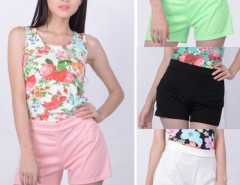 Women's Fashion Style Back Zip High Waisted Shorts Hots Pants 4 Colors Cndirect bester Fashion-Online-Shop China