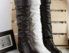 Women's Grace Devise Round Toe Flat Knee High Boots Cndirect bester Fashion-Online-Shop China