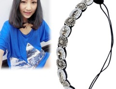 Women's Hair Accessory Elastic Crystal Stones Rhinestone Hair Band Headband Cndirect bester Fashion-Online-Shop China