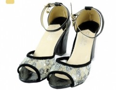 Women's High Heel Lace Peep-Toes Thick Heel Sandal Cndirect bester Fashion-Online-Shop China