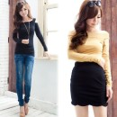 Women's Off Shoulder Sexy Slim Fit Long Sleeve Cotton T-Shirt Cndirect bester Fashion-Online-Shop China