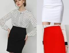 Women's Office High Waist Over Hip Slim Skirt FINEJO Cndirect bester Fashion-Online-Shop China