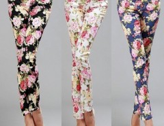 Women's Printing Slim Stretch Pencil Feet Pants Trousers Cndirect bester Fashion-Online-Shop China