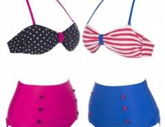 Women's Retro Vintage Swimsuits Bandeau High Waisted Bikini Set Cndirect bester Fashion-Online-Shop China