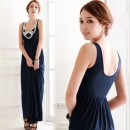 Women's Sequins U-neck Sleeveless Long Maxi Party Cocktail Dress Cndirect bester Fashion-Online-Shop China