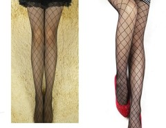 Women's Sexy Grid Pattern See Through Pantyhose Stockings Cndirect bester Fashion-Online-Shop China
