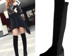 Women's Shoes Over the knee Faux Suede High Flat Boots Cndirect bester Fashion-Online-Shop China
