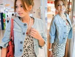 Women's Short Round Neck Jeans Tops Jacket Denim Coat Cndirect bester Fashion-Online-Shop China