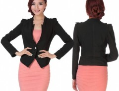 Women's Slim Business One-button Puff Sleeve Suit Blazer Coat Jacket Cndirect bester Fashion-Online-Shop China