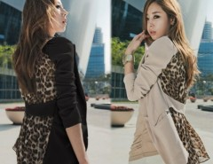 Women's Slim Leopard Chiffon Suit Blazer Outerwear Coat Cndirect bester Fashion-Online-Shop China