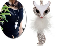 Women's Sparkling fox Pendant Necklace Sweater Chain Cndirect bester Fashion-Online-Shop China