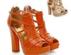 Women's Square Heel High Heels Peep-Toes Sandals Cndirect bester Fashion-Online-Shop China