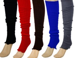 Women's Stripe Leg Warmers Stocking Socks Legging Finger Gloves Cndirect bester Fashion-Online-Shop China