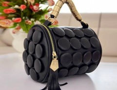 Women's Tassel Buttons Bucket Shoulder Bag Hand Bag Cndirect bester Fashion-Online-Shop China