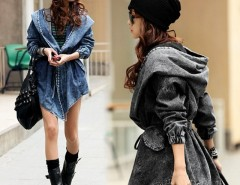 Women's Trench Hoodie Jeans Jacket Coat Cndirect bester Fashion-Online-Shop China