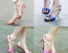 Women's serpentine Peep-toe Synthetic Leather Stiletto Heel Sandals Cndirect bester Fashion-Online-Shop China