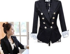 Womens Double-breasted Lace Blazer Casual Suits Jacket Cndirect bester Fashion-Online-Shop China