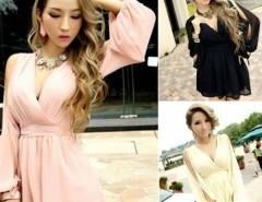 Womens Girl Party Evening Clubwear V-neck High Waist Jumpsuit Cndirect bester Fashion-Online-Shop China