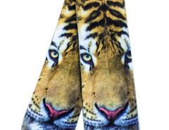 Yellow 3D Fierce Tiger Print Ankle Socks Choies.com bester Fashion-Online-Shop Großbritannien Europa
