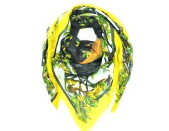 Yellow Mythical Forrest Deer Head Print Carnet de Mode bester Fashion-Online-Shop