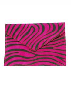 Zebra printed suede envelope Carnet de Mode bester Fashion-Online-Shop