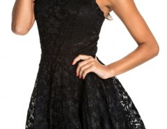 All Black Lace Party Skater Dress OASAP bester Fashion-Online-Shop aus China