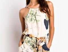 Apricot Halter Neckline Floral Print Romper OASAP bester Fashion-Online-Shop aus China