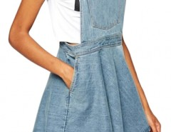 Azure Blue Denim Suspender Dress OASAP bester Fashion-Online-Shop aus China
