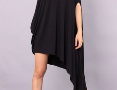 Black Oblique Neck Sleeveless Asymmetrical Dress OASAP bester Fashion-Online-Shop aus China