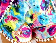 Brightly Hued Print Pom Deco Shorts OASAP bester Fashion-Online-Shop aus China